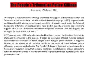 Peoples Tribunal statement